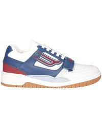 Bally Contrasting Panelled Trainers - Blue