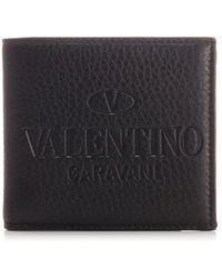 Valentino Garavani Logo Embossed Bifold Wallet - Black