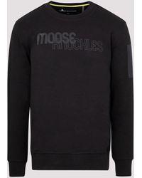 Moose Knuckles Transit Logo Sweatshirt - Black