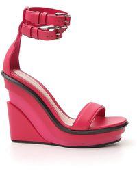 Alexander McQueen Ankle Strap Wedge Sandals - Pink