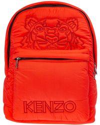 KENZO Women's Rucksack Backpack Travel Tiger - Red