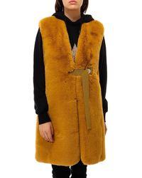 Golden Goose Deluxe Brand Faux Fur Gilet - Yellow