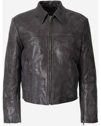 Balenciaga Vintage Leather Jacket - Black