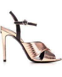 Gucci Ankle Strap Heel Sandals - Metallic