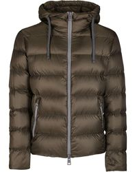 Herno Hooded Down Jacket - Green