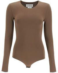 Maison Margiela Viscose Jersey Bodysuit - Multicolour