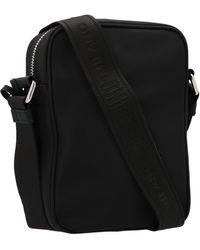 Moschino Logo Patched Crossbody Bag - Black