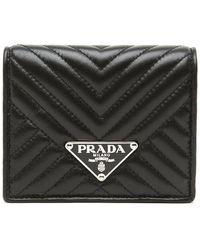 dd15c094025e Prada Etiquette Continental Wallet in Black - Lyst