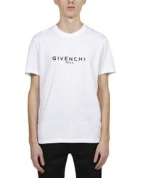 Givenchy - Cotton Short Sleeved Logo T-shirt - Lyst
