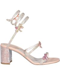 Rene Caovilla René Caovilla Cleo Embellished Strappy Sandals - Natural