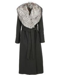 Dolce & Gabbana Fur Collar Coat - Black
