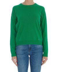 Pinko Long-sleeved Knit Sweater - Green