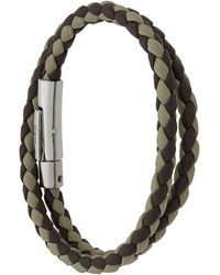 Tod's Two-tone Weave Wrap Bracelet - Green