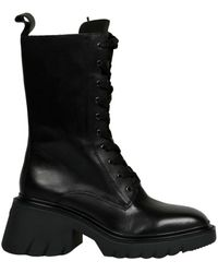 Ash Odessa Combat Boots - Black