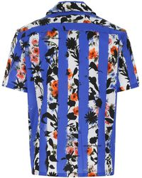Off-White c/o Virgil Abloh Cotton Shirt Uomo - Blue