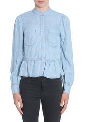FRAME Ruched Shirt - Blue