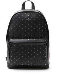 Jimmy Choo Star Embellished Backpack - Black