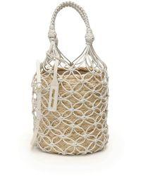 Miu Miu Net Woven Bucket Bag - White