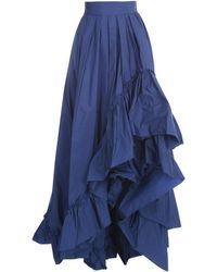 Max Mara Asymmetric Ruffled Skirt - Blue