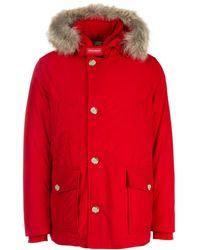 Woolrich Arctic Anorak Down Coat - Red
