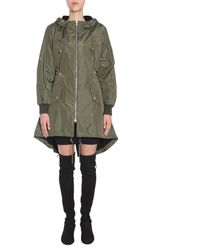 Moschino Lace-up Detail Parka - Green
