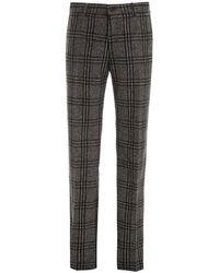 Dolce & Gabbana Tartan Trousers - Grey