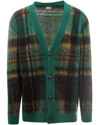 Etro Tartan Pattern Knitted Cardigan - Green