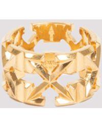 Off-White c/o Virgil Abloh Arrow Motif Ring - Metallic