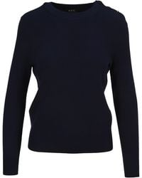 A.P.C. Caroline Knitted Sweater - Blue