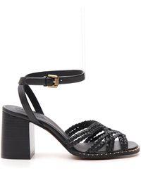 See By Chloé Braided Block Heel Sandals - Black