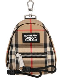 Burberry Beige Other Materials Key Chain - Brown