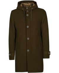Herno Hooded Buttoned Parka - Green