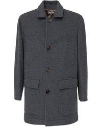 Brunello Cucinelli Single-breasted Coat - Gray