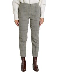 Chloé Plaid Cropped Pants - Grey