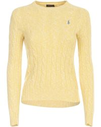 Polo Ralph Lauren Logo Cable-knit Sweater - Yellow