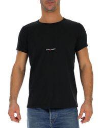 7eacec6788ab3 Saint Laurent Logo Detail T-shirt - Black