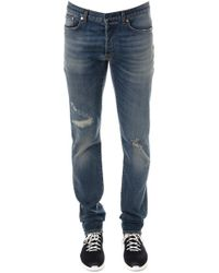 Dior Homme - Stone Wash Ripped Jeans - Lyst