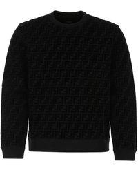 Fendi Black Cotton Sweatshirt