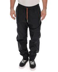 Heron Preston Logo Patch Drawstring Track Pants - Black
