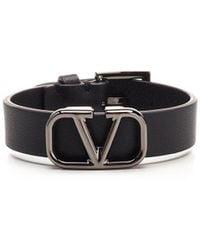 Valentino Vlogo Signature Bracelet - Black