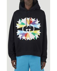 Gucci - Interlocking G Star Burst Print Hoodie - Lyst