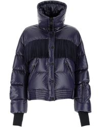 3 MONCLER GRENOBLE Fringed Puffer Jacket - Blue
