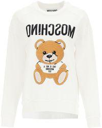 Moschino Teddy Bear Embroidered Sweatshirt - Multicolour