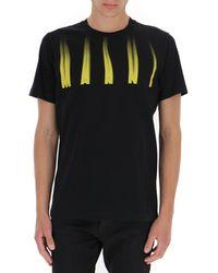 Marni Flame Logo Print T-shirt - Black