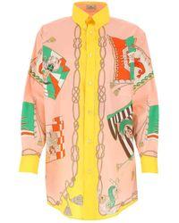 Etro Printed Longline Shirt - Multicolour