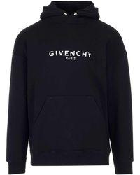 Givenchy Paris Vintage Logo Hoodie - Black