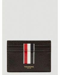 Thom Browne Vertical Intarsia Stripe Cardholder - Black