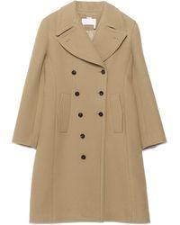 Chloé Oversized Lapels Coat - Brown