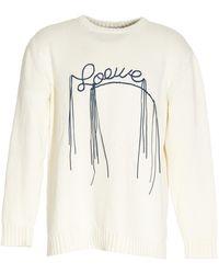 Loewe Stitched Logo Jumper - White