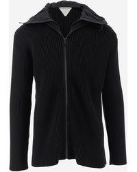 Bottega Veneta Knit Hooded Jacket - Black